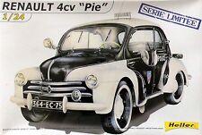 """Oldtimer 1:24: Renault 4CV """"PIE"""" Polizei (Heller 80764)"""