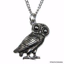 Collar de Búho de Athena-Reino Unido mano fundido mitología Símbolo de conocimientos y sabiduría