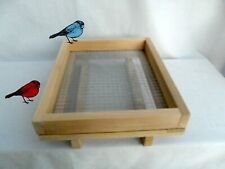 Deck Rail Tray Feeder, Large Bird Feeder 12 x 15 Platform, Wood Bird Feeder Usa!