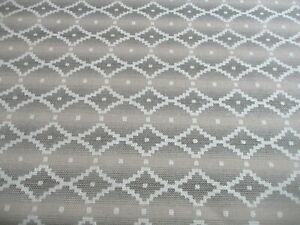 ROLL END OF 4.8 METRES OF A SUPERB GEOMETRIC DESIGN UPHOLSTERY FABRIC