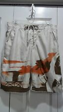 MEN'S Sz SMALL TAN OLD NAVY SWIM SHORTS TRUNKS w INSIDE HIDEAWAY COIN KEY POCKET