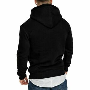 Men's Hoodie Sweatshirt Autumn Spring Casual Top Tracksuits Fashion Pocket Solid