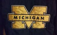 Vintage University of Michigan Starter Winter Coat Jacket Pullover Maze & Blue