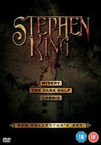STEPHEN KING - MISERY / THE DARK HALF / CARRIE DVD [UK] NEW DVD