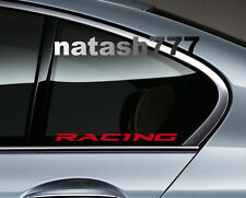 RACING Performance Sport Car Auto Window Vinyl Decal sticker emblem logo 2-pcs