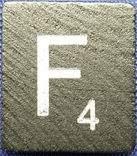 Single Scrabble Diamond Anniversary Wood Letter F Tile Replacement Game Part