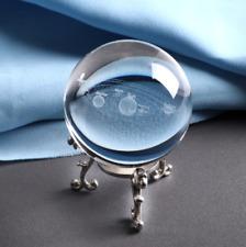 Boule de cristal ésotérisme gravée système solaire voyance tarot cartomancie x