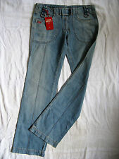 Miss Sixty Blue Jeans W30/L34 Denim regular fit extra low waist straight leg