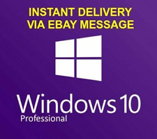 Win 10 PRO KEY Professional 32/64 BIT 🔥 Instant Delivery 🔥 License KEY 🔑🔑🔑.