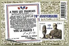 "France - ""WORLD WAR II ~ GENERAL D GAULLE ~ MILITARY"" MNH MS 2010 !"