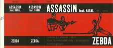 RARE / TICKET BILLET DE CONCERT - ASSASSIN / ZEBDA LIVE A NICE NOVEMBRE 1996