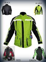 Uomo Moto Giacca Nera Tessuto Rinforzata Motocicletta Impermeabile Cordura UK