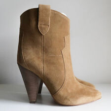 High (3 in. and Up) Suede Solid Slip On Boots for Women