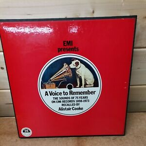 EMI presents A Voice To Remember Recalled by Alistair Cooke 2-Record Set EMSP 75