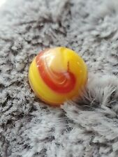 21/32 Inches Akro Agate Red and Yellow Popeye Marble