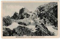 Ansichtskarte Meilerhütte im Bayerland - Bergmassiv - schwarz/weiß