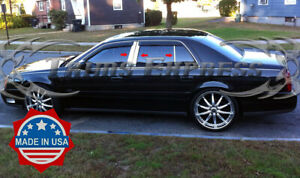 2000-2005 Cadillac DeVille 6Pc Chrome Pillar Post Stainless Steel Trim Door