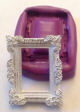 frame silicone mould (cupcake.shabby chic.vintage.wedding.love.cake.