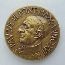 Vatican O. G. Art. Medal Paulus VI Pont . Max . Anno XVI, 44 mm, 33 gr