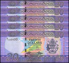 Solomon Islands 20 Dollars X 5 Pieces (PCS), 2017, P-NEW, UNC