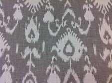 Kravet Ikat Linen Upholstery Drapery Fabric- Bristow/Smoke- 61 yd BOLT- 75% OFF