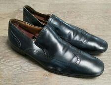 💥MAGNANNI Black Leather Wingtip Slip On  Loafers 11617  Men's SZ 9.5/EUR 42.5