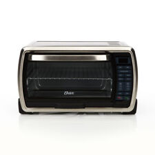 Black Stainless Steel Convection Oven Toaster 6-Slice Digital Countertop Large