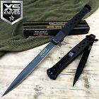 "13"" TAC FORCE BLACK Spring Assisted EXTRA LARGE Stiletto Folding Pocket Knife"