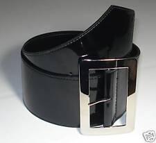 WOMAN'S DESIGNER FASHION WAIST BELT BLACK S 32 PATENT