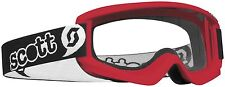Scott Agent Goggles Red Pee Wee Ages 3-6 Youth Kids Childs Dirt Bike ATV MX