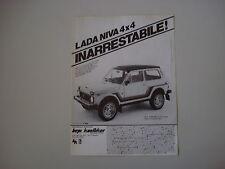 advertising Pubblicità 1982 LADA NIVA 4X4