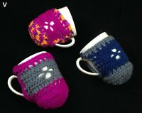 1x Crocheted Knitted Thermal Tea Coffee Cup Mug Cosy Cozy Australian Hand Made