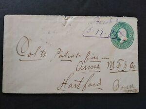 Georgia: Tweed 1886 Cover, Violet Ms, DPO Laurens Co to Hartford, Ct.