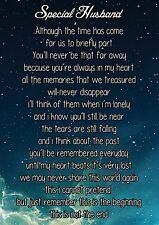 Special Husband Graveside Poem Memorial Keepsake Card With Free Ground Stake F9