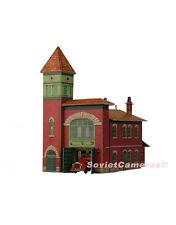 1/87 HO Scale Building Fire Station Depot USA Raritan NJ Cardboard Model Kit