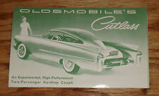Original 1953 - 1954 Oldsmobile Cutlass Hardtop Coupe Concept Postcard Brochure