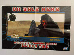Topps Star Wars Widevision Trading Cards Series Two Promo Poster 17x11 Darth