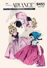 Reproduction Vintage Peasant Topsy Turvy Doll Sewing Pattern A8455