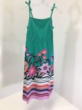 GYMBOREE GIRLS SLEEVELESS FLORAL STRIPED MAXI DRESS TEAL/MULTICOLOR SZ 6 NWT $40