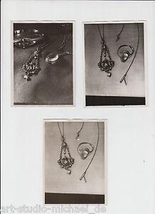 """3 Original Vintage-Fotos von Georg Trump: """"Schmuck"""", um 1930"""