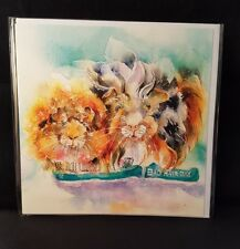 Sheila gill Guinea pig 'bad hair day' artistic work blank open greeting card