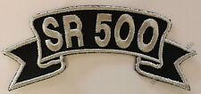 Patch ricamate #47 sr500, Biker ricamate Route 66 MOTO Custombike