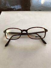 New Moschino Tortoiseshell Eyeglasses Rx Glasses Made in Italy M3552-V 54-17-140