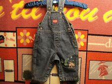 BOYS,GIRLS,OLD NAVY,16X7,EMBROIDERED,BLUE JEANS,OVERALLS,SNAP ACCESS,0-3 MONTHS