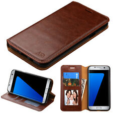 For Samsung Galaxy J7 PRIME Wallet Case Pouch Flap STAND Cover + Screen Guard