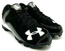Under Armour Boys Girls Youth Baseball Softball Cleats Black White Us 2,5 Y