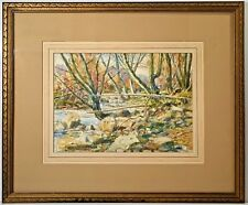 Listed American Artist Charles P Reiffel (1862-1942) Signed Watercolor Landscape