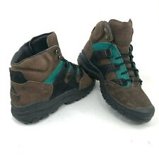 Vintage 90s adidas Equipment Mens 9 High Top Brown Leather Hiking Outdoor Shoes