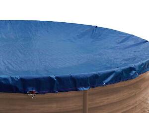 Abdeckplane Pool rund für 200 - 250 cm Planenmaß 340 cm Pools Winterabdeckplane