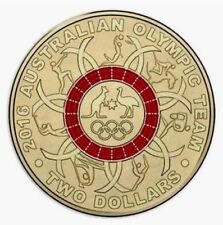 "2016 Olympic $2 Coin Australian Two Dollars "" RED Ring """